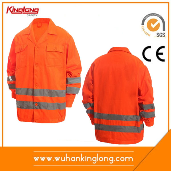 Factory outlets 100%polyester high visibility traffic police jacket