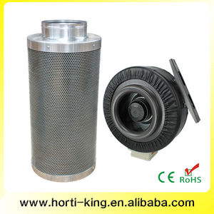 Inline Fan & Filter - Hydroponics Carbon Exhaust Air