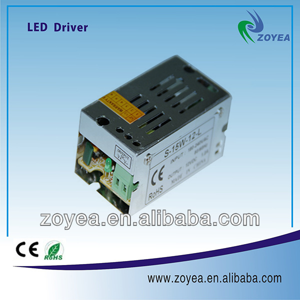 15W 12v 1.2A Single output switch power supply with CE ROHS for 2 years quality guarantee