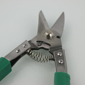 8'' multifuntional shears for metal sheet and leather with curved jaw for sale
