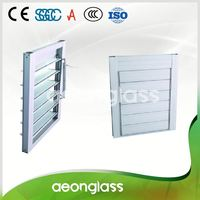 10mm building art double glazed louver window glass with louvers