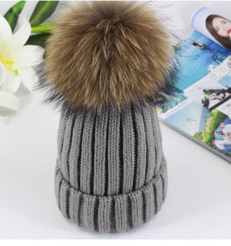 cb32ab4f911 Women Girls Wool Knitted CRYSTAL Winter Beanie Hat with Large Fur Pom Pom  Cap SKI Snowboard