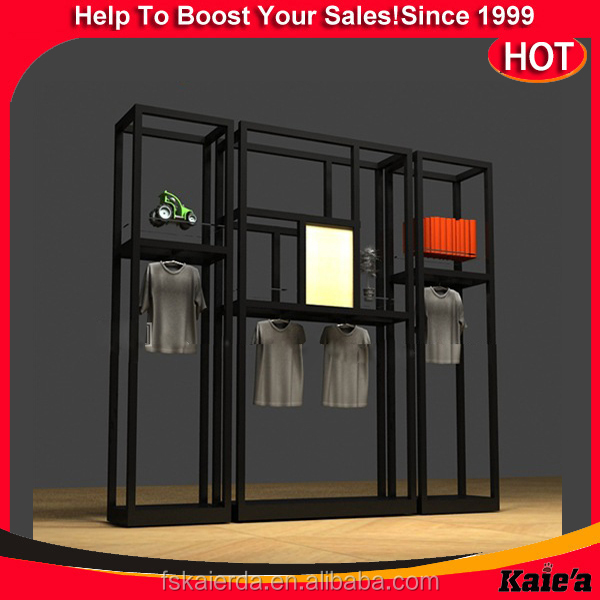 2016 new iron square tube gate rack for shop display rack and stand