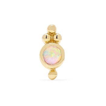 2019 new trend most beautiful opal earrings jewelry manufacturer china