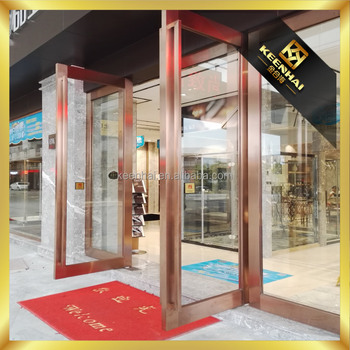 Custom Made Stainless Steel Glass Door Metal Frame For Building Gate With Metal  Frame Glass Door
