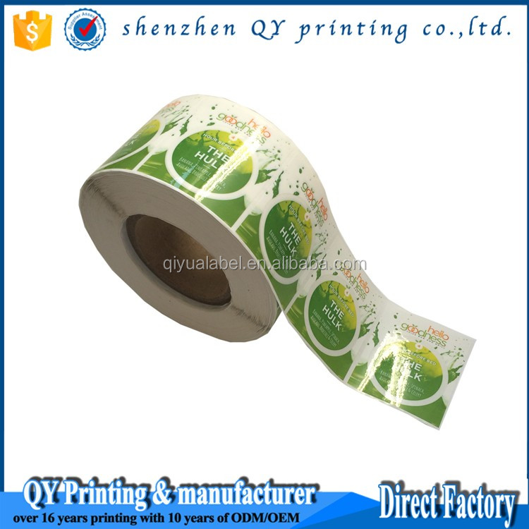 Custom Fruit Juice Roll Vinyl Stickers Easy Peel Off Paper Label - Custom vinyl stickers easy peel off