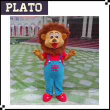 Cartoon character adult lion mascot costume for festival dress