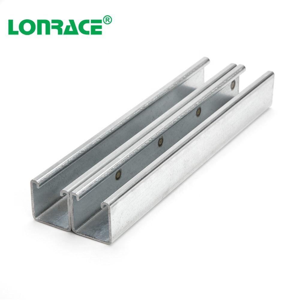 Galvanized structural steel u channel Zinc Plated C-Purlin for Building Hardware