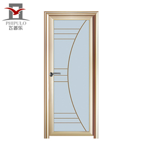 Factory manufacture toilet door design aluminium bathroom door