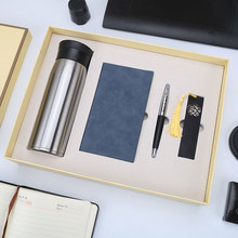 Notebook bookmark pen vacuum mugs office stationery gift set for christmas gifts