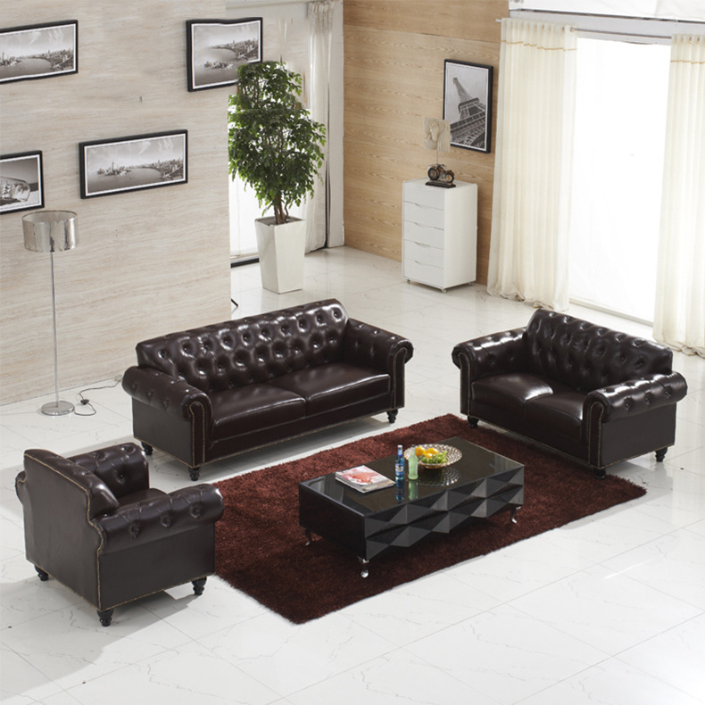 Foshan Furniture Italy Leather Sofa Factory Chesterfield Armchair Italian Luxury Sofas