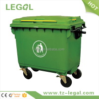 custom plastic container with handle disposable industry recycle bin
