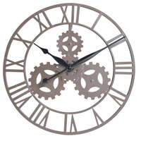 Large Wall Mounted Clock Antique Wrought Iron Wall Clock For Sale