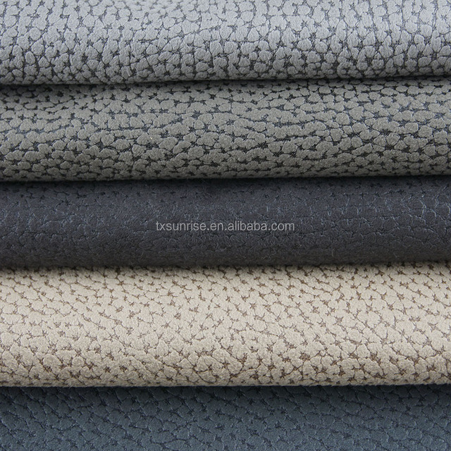 Chinese Supplier Faux Leather Knitting Microfibre Suede Fabric For Sofa And  Furniture