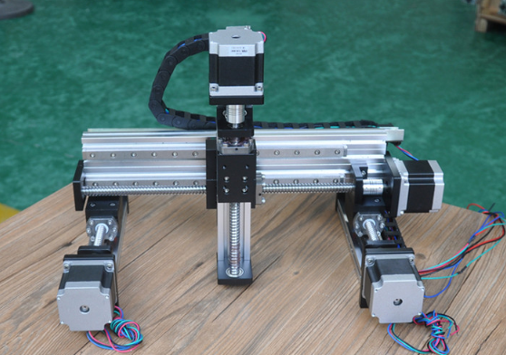 multi-axis ball screw linear motion gantry module cartesian robot