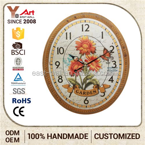Classic Italian Style Furniture Made In China Decorative Art Wall Clock Picture