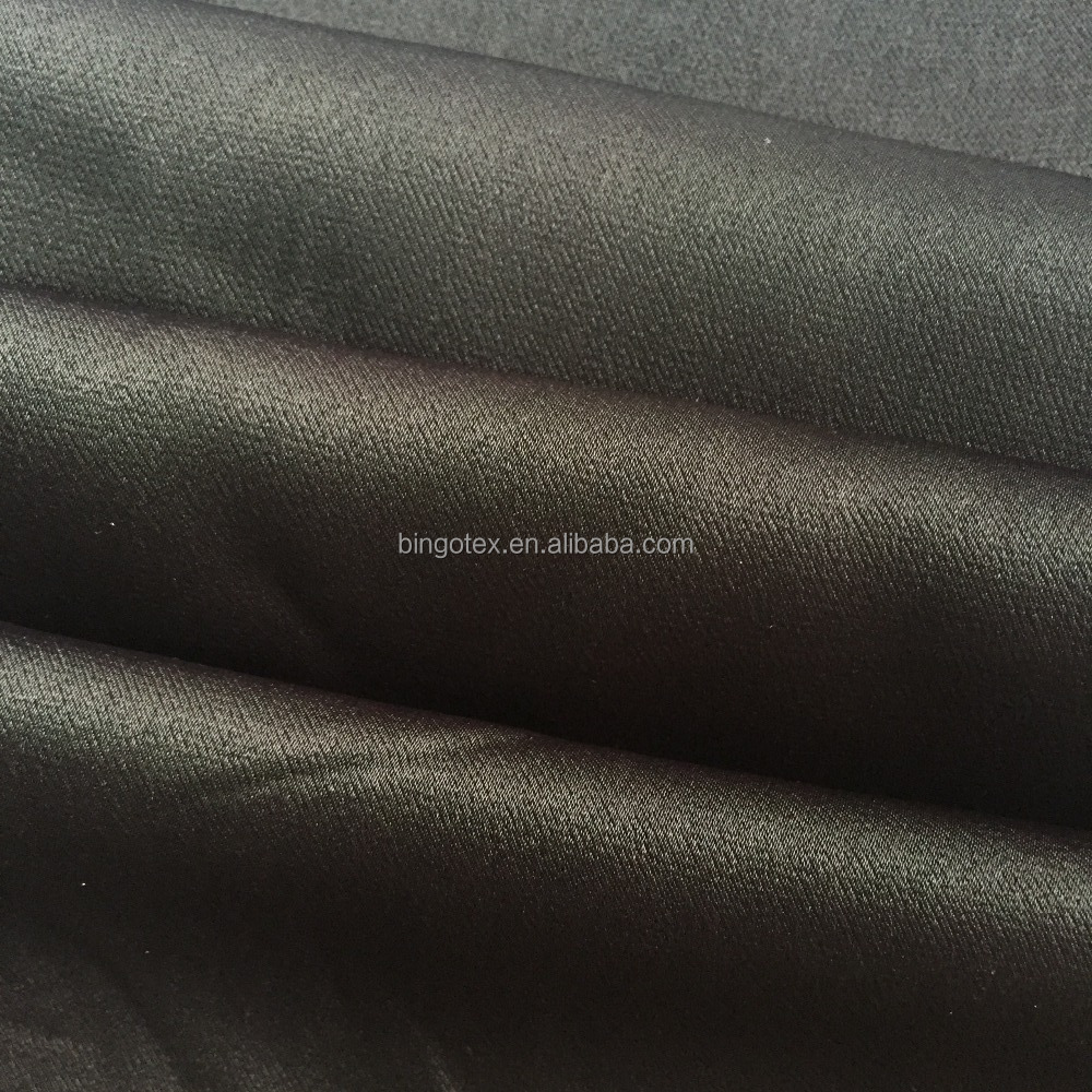 Wholesale plain dyed shiny 100%viscose satin fabric for lady's dress