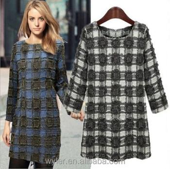 new style 6e858 88394 Commercio All'ingrosso 2016 Autunno & Inverno Moda Vestito Plaid Manica  Lunga Party Dress Vestido Xadrez Inverno Inverno Plaid Dress - Buy Vestido  ...