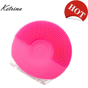 Amazon top seller 2018 facial brush best silicone Rechargeable machine face brush sonic for deep cleansing face care