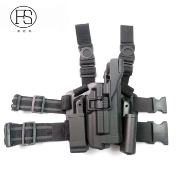 Tactical LV3 Glock 17 Leg Gun Holster With Flashlight