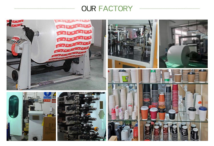 Factory price wholesale bulk custom logo color hot cold coffee disposable paper cup for blank