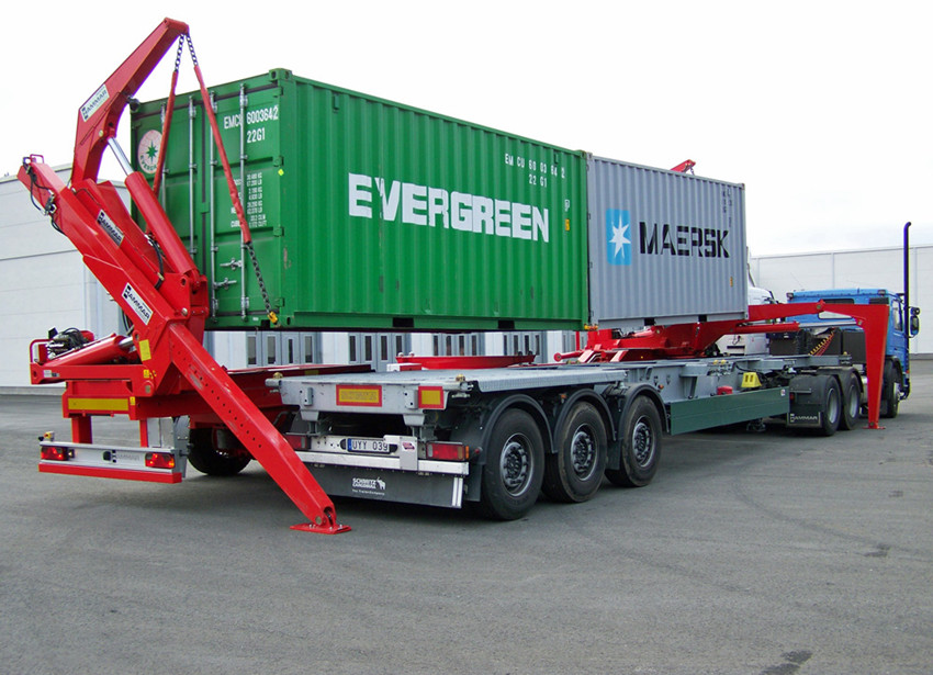 Tri Axle Truck For Sale >> Tri-axle Side Lifter Container Side Loader Trailer For 20 Ft 40ft Container - Buy Container Side ...