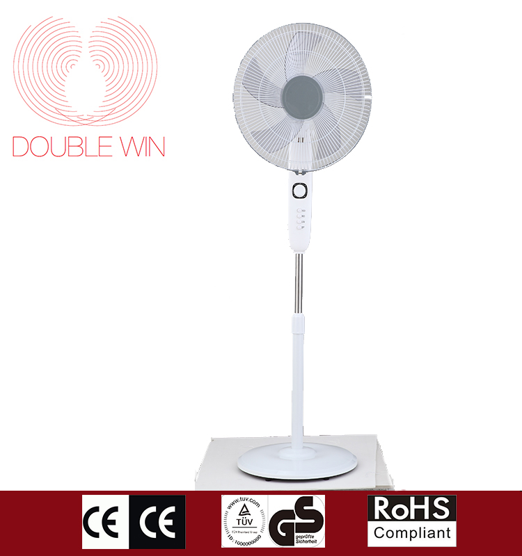 Hot sale 16inch basic stand fan /household Electrical plastic stand fan CE CB GS
