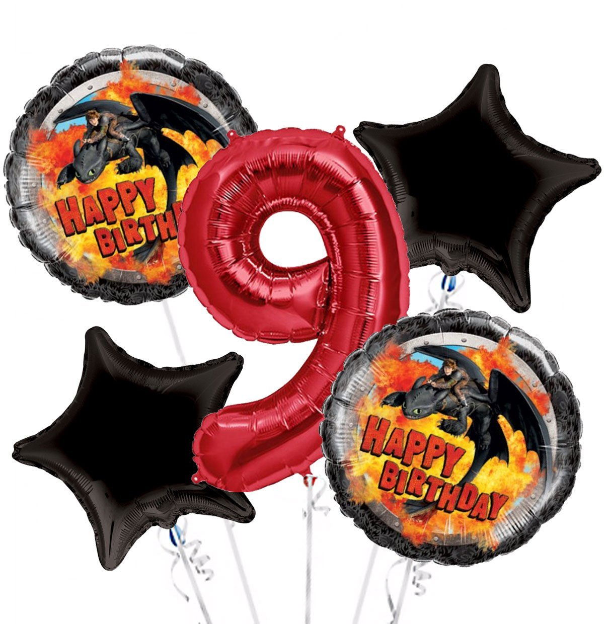 Buy How To Train A Dragon Balloon Bouquet 9th Birthday 5 Pcs Party Supplies In Cheap Price On Alibaba Com