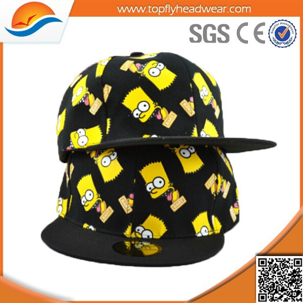 Encargo lindo THE SIMPSONS impreso Cartoon casquillos del Snapback