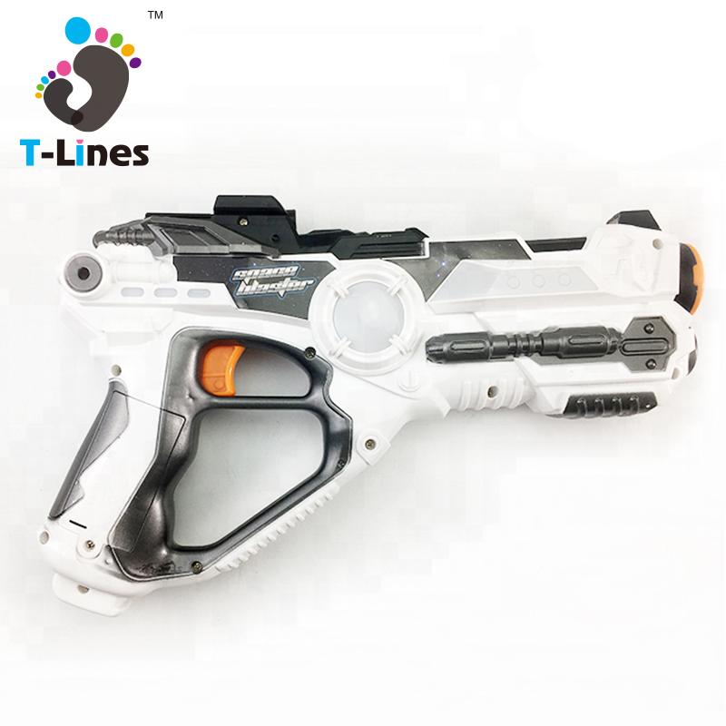 Space laser toy flash light stunt gun with sound