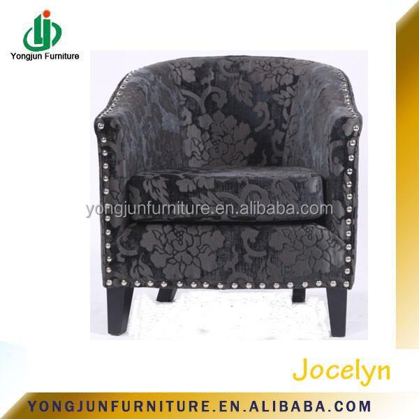 Retro moderne massief houten poten gebloemde stof sofa lounge ...