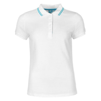 OEM elegant ladies blank white color combination collar design polo shirts