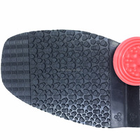 Black High Tensile Rubber Soling Sheets Wave Pattern Natural Gum Rubber Sheet For Shoe Sole Material
