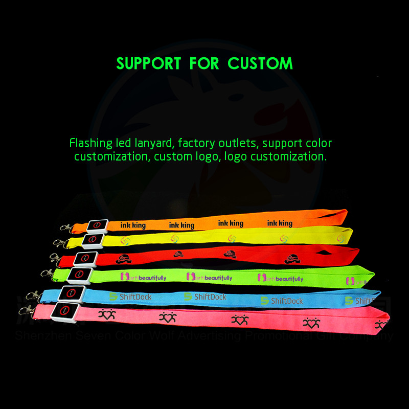 Anime Expo LED Flashing Nylon Lanyard for Japan Cartoon Characters Flashing And CE Certificate LED Lanyard For Promotional Gift