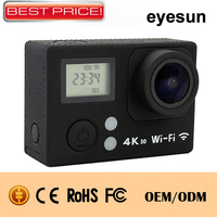 2017 cheapest dual screen 4k 30fps action cam 30m waterproof full hd 1080p 60fps wifi sports action camera