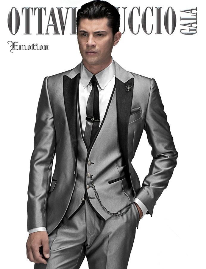 26f4b6fec44f Buy mens suits with pants 2015 grey Arabic Wedding suit Groom Tuxedos  costume slim homme best men Suit Jacket+Pants+Tie+Vest in Cheap Price on  m.alibaba.com