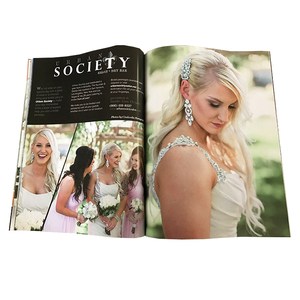 softcover A4 wedding magazine full color printing