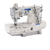 OEM-1558DD-01DB long operating life 4 needle 6 thread flat bed interlock cover stitch sewing machine from taizhou