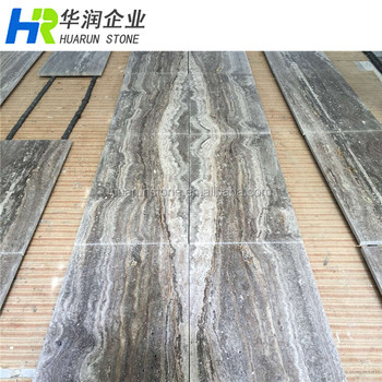 Silver Grey Bookmatch Marble Travertine Floor Tile Buy Bookmatch