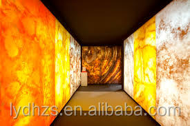 Backlit Onyx Stone Wall Cladding Interior Building