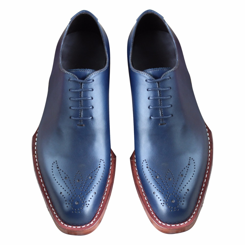 Custom Made Goodyear Welt Handmade Oxford Shoes with Double Leather Outsole, Custom Made Wedding Shoes for Men