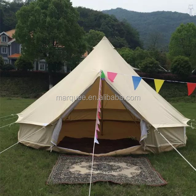 5M glamping bell tent with 100%cotton canvas