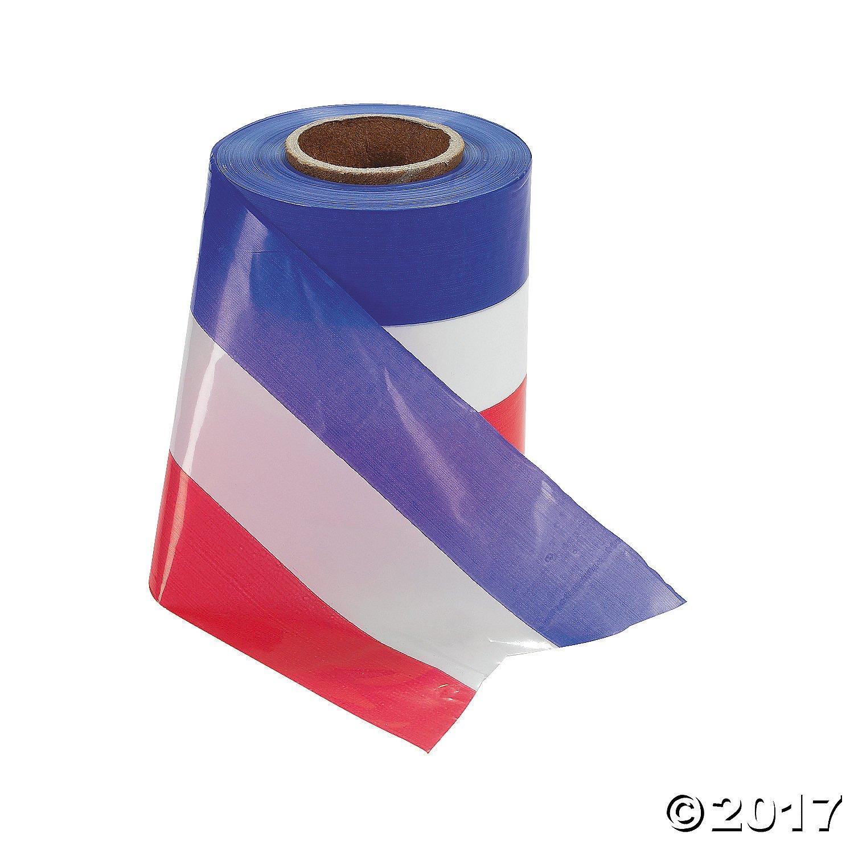 "300 Ft Plastic Red White Blue Patriotic USA Ribbon 3"""