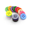 Factory price colorful 4 holes plastic buttons fancy shirt buttons