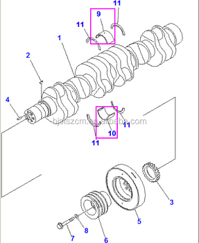 6754-22-810 Main Crankshaft Metal Assy For 6d107 Engine
