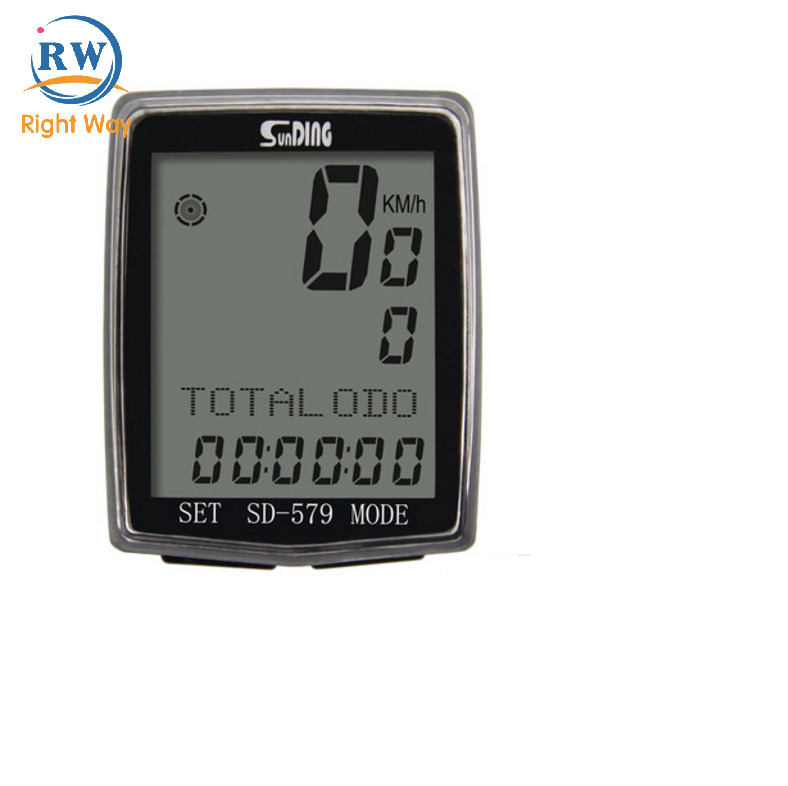 Multi-function Large Screen Cable Bicycle Computer Rainproof Bike Speedometer