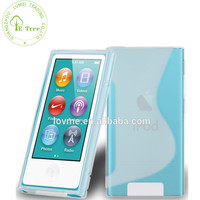 S Line Tpu Gel Case Cover For iPod Nano 7 , Silicone Case For iPod Nano 7