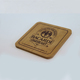 Square shape 10cm wood coaster for beer cup use rubber wood coaster