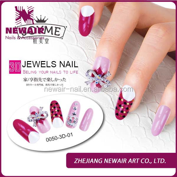 2016 Personalized Beauty Salon Names 3d Decorations Nail Art