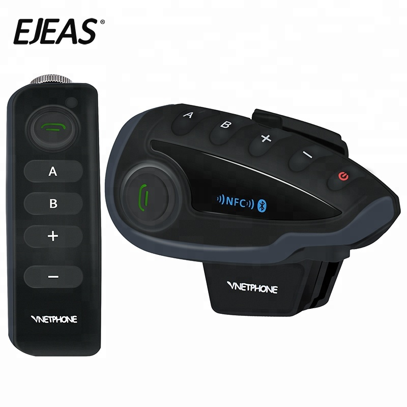 EJEAS V8 FM do bluetooth interfone sem fio full duplex comunicador capacetes da motocicleta bt interfone